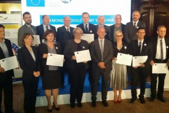 Representatives of the PREDA Agency and Wood Cluster DRVO-PD attended the grant award ceremony