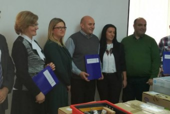 """Handed over equipment through project """"Enhancing quality of education in primary schools"""""""